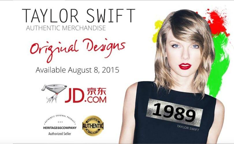 Taylor Swift to design for JD.com