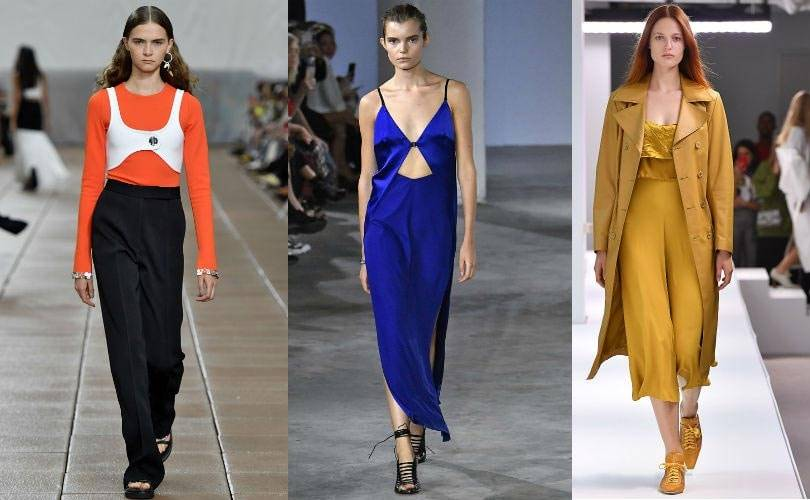 "Spotted on the NYFW catwalk: Pantone's ""empowering"" colors"