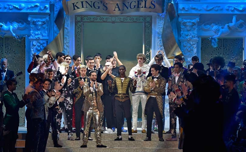 Dolce & Gabbana's royal flush wows Milan Fashion Week