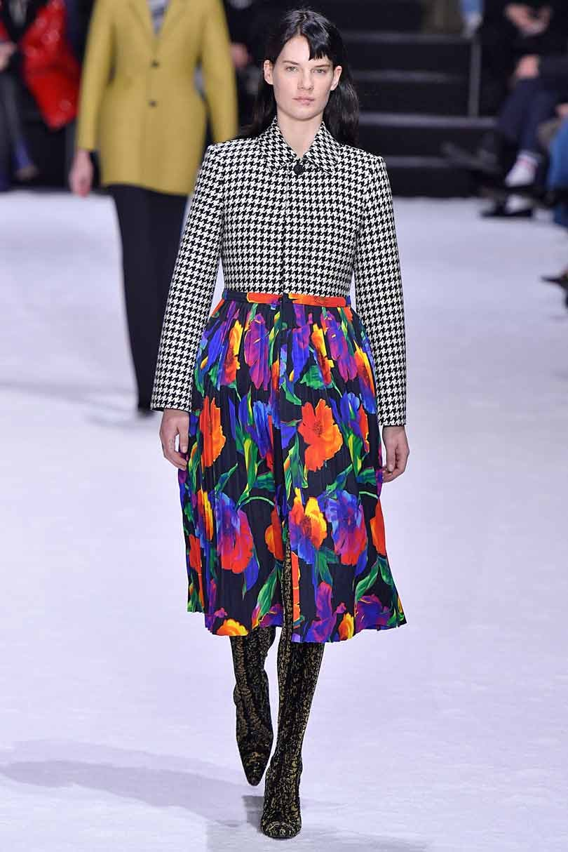Balenciaga looks to Angela Merkel for inspiration at Paris Fashion Week