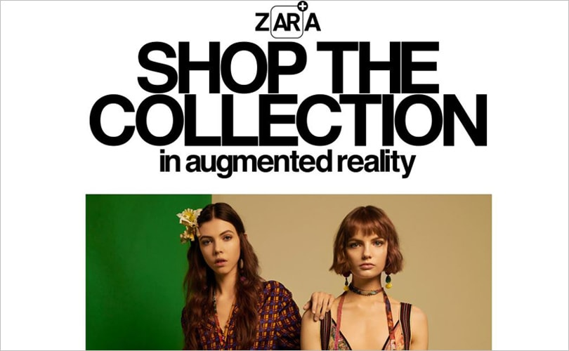 Zara offers augmented reality