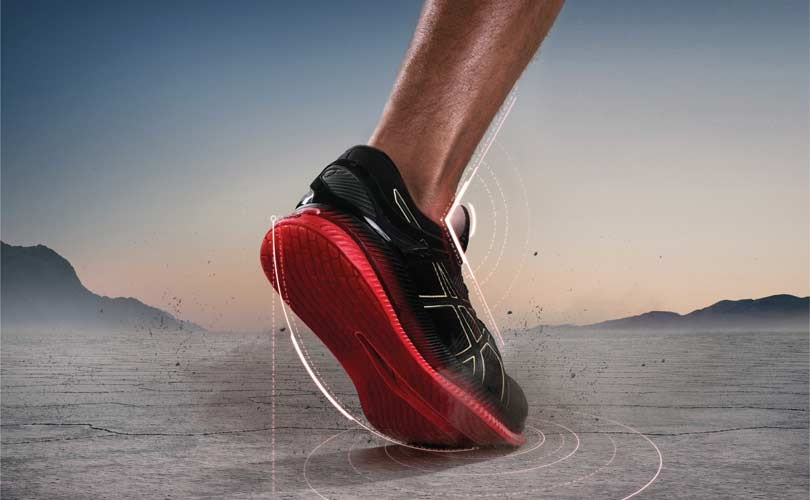 "Asics launches ""energy-saving"" running shoe that makes ankle joints less tired"
