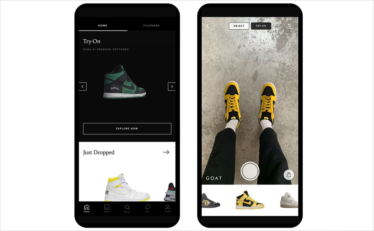 Sneaker marketplace Goat launches AR 'try-on' feature