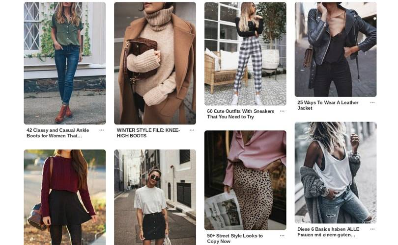 How to use Pinterest to promote a fashion business